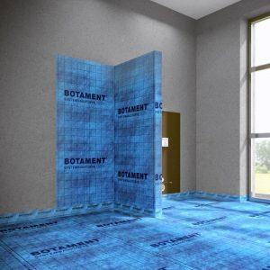 Hydroizolacja łazienki zzastosowaniem maty uszczelniającej BOTAMENT® AE